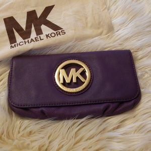 MK Fulton Clutch purple